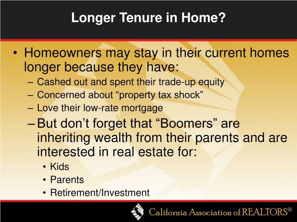 Longer Tenure in Home?