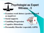 psychologist as expert witness 3