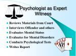 psychologist as expert witness