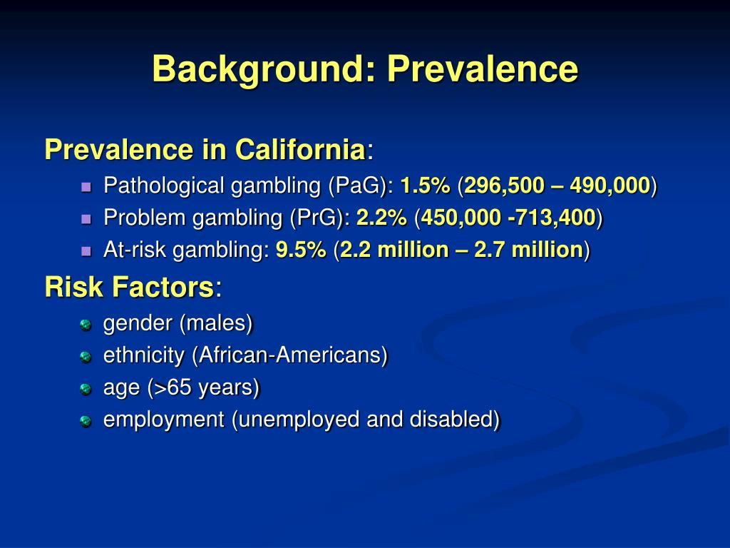 Background: Prevalence