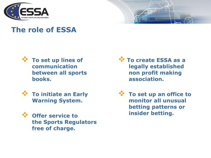 The role of essa
