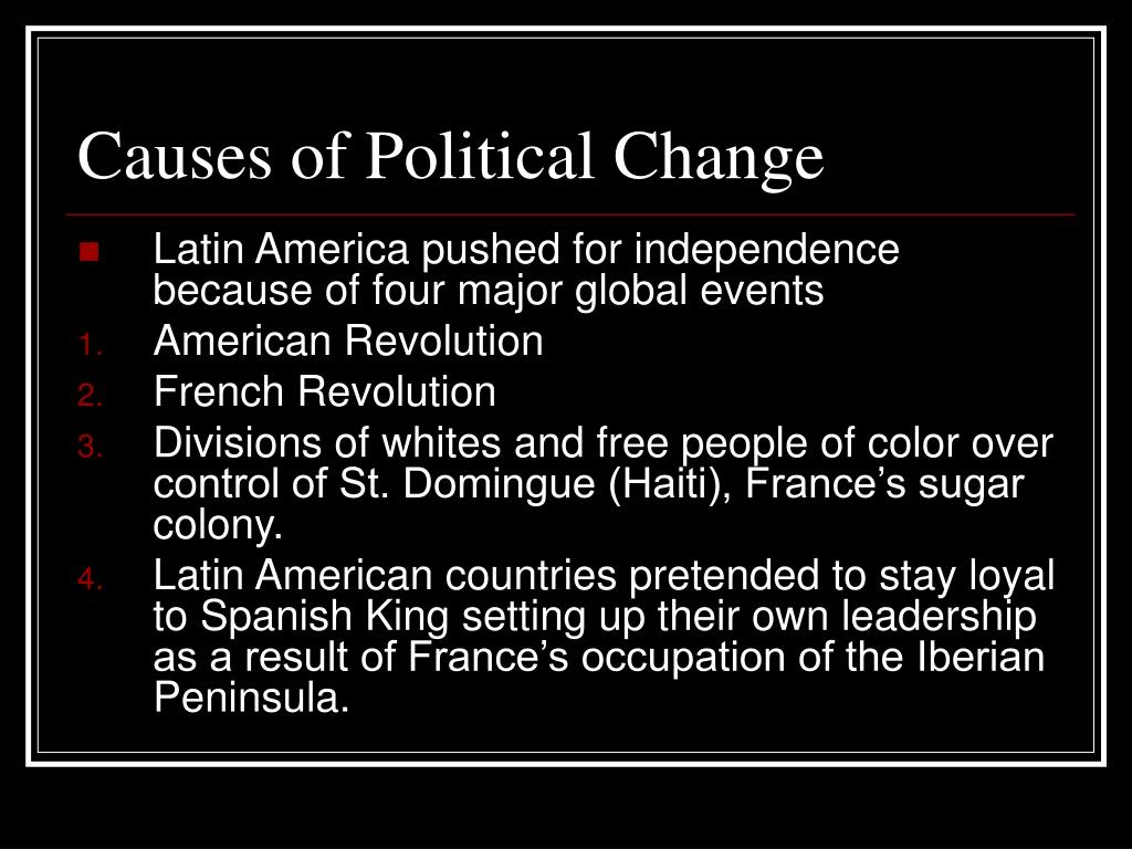 Causes of Political Change