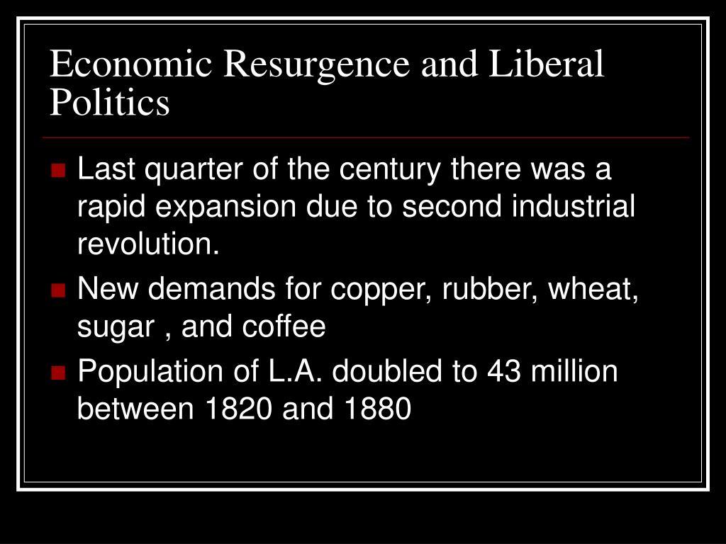 Economic Resurgence and Liberal Politics