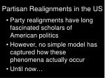 partisan realignments in the us