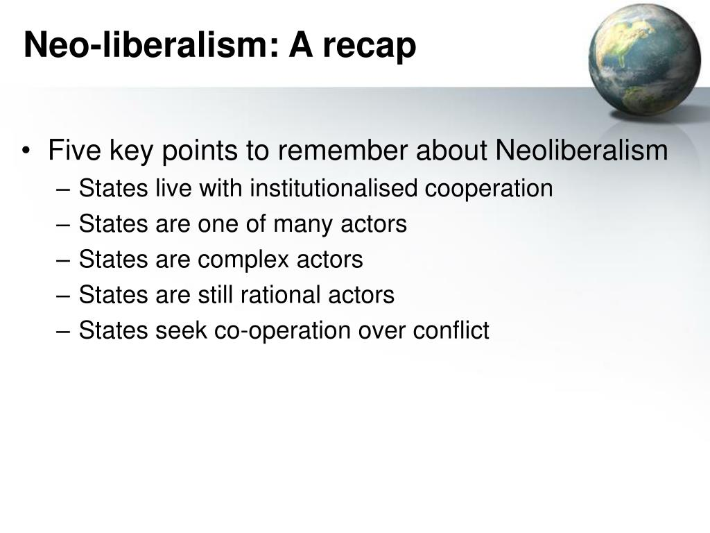 complex interdependence neo liberalism