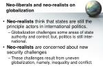 neo liberals and neo realists on globalization
