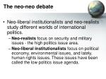 the neo neo debate10