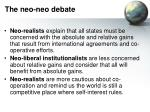 the neo neo debate11