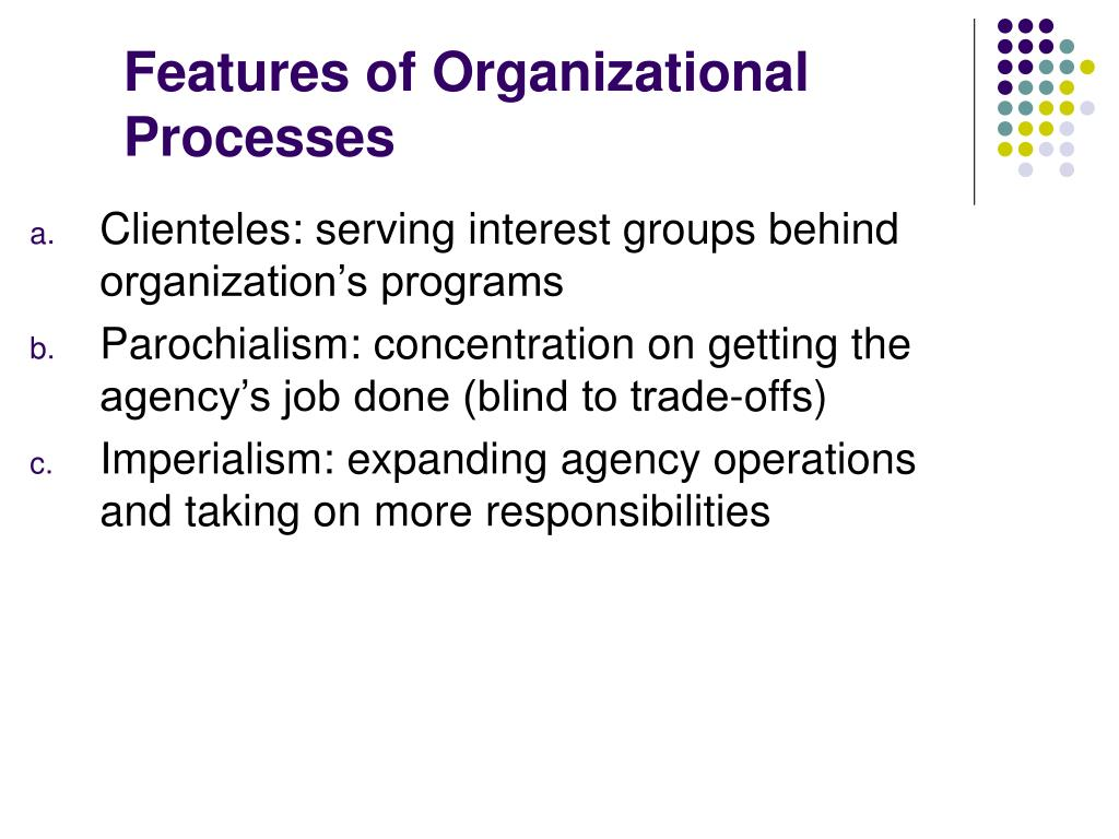 Features of Organizational Processes