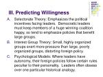 iii predicting willingness