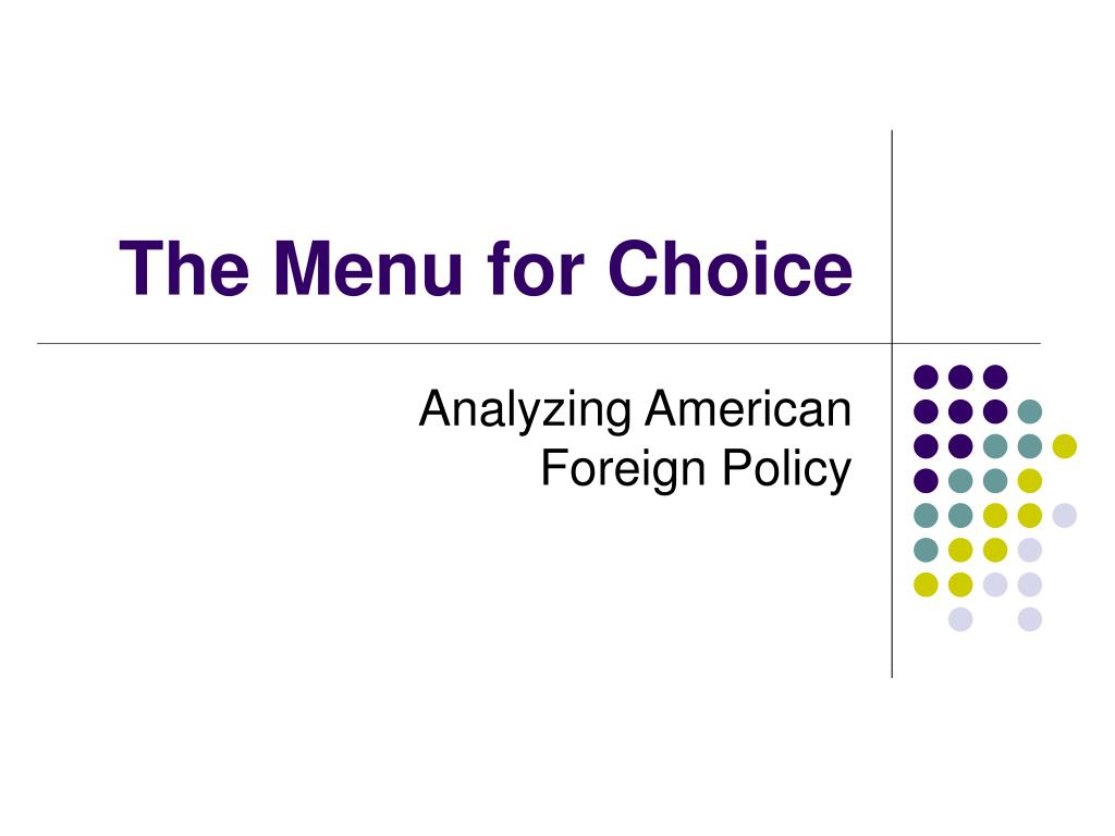 the menu for choice l.