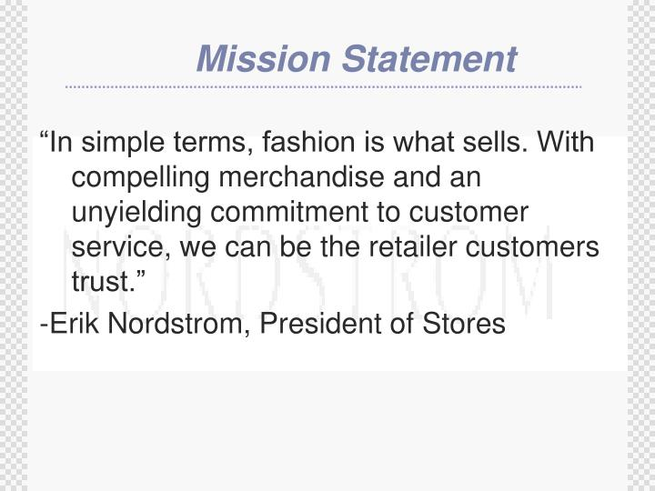 """""""In simple terms, fashion is what sells. With compelling merchandise and an unyielding commitment ..."""