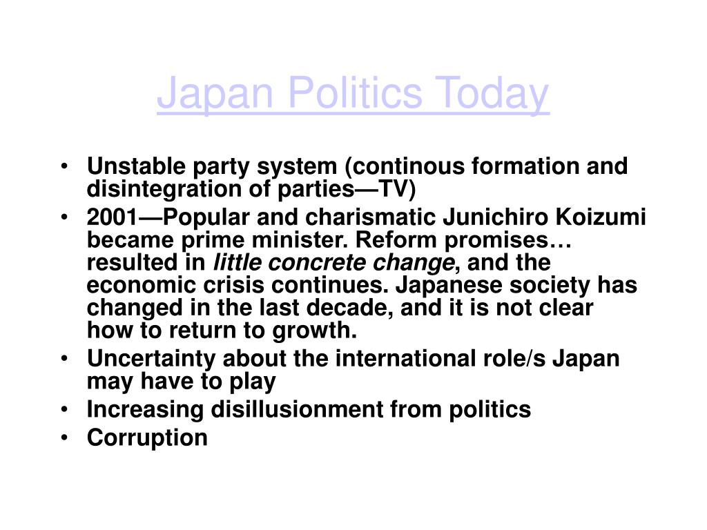 Japan Politics Today