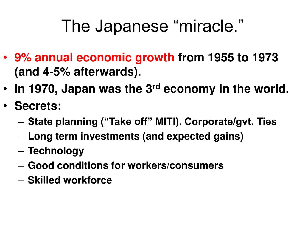 "The Japanese ""miracle."""