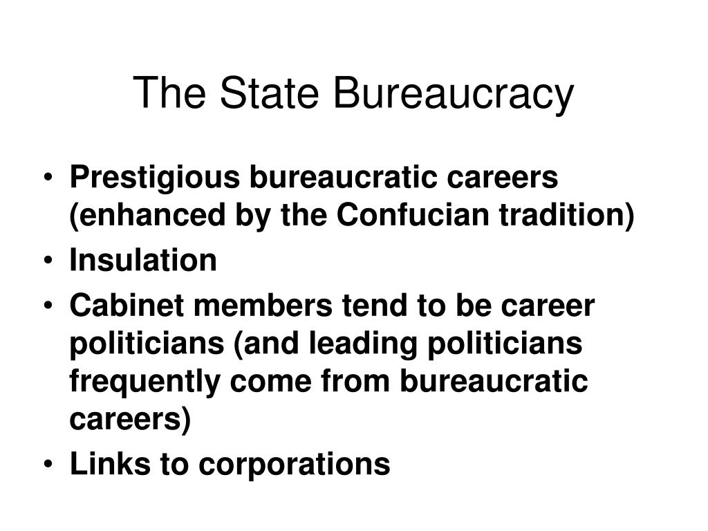 The State Bureaucracy