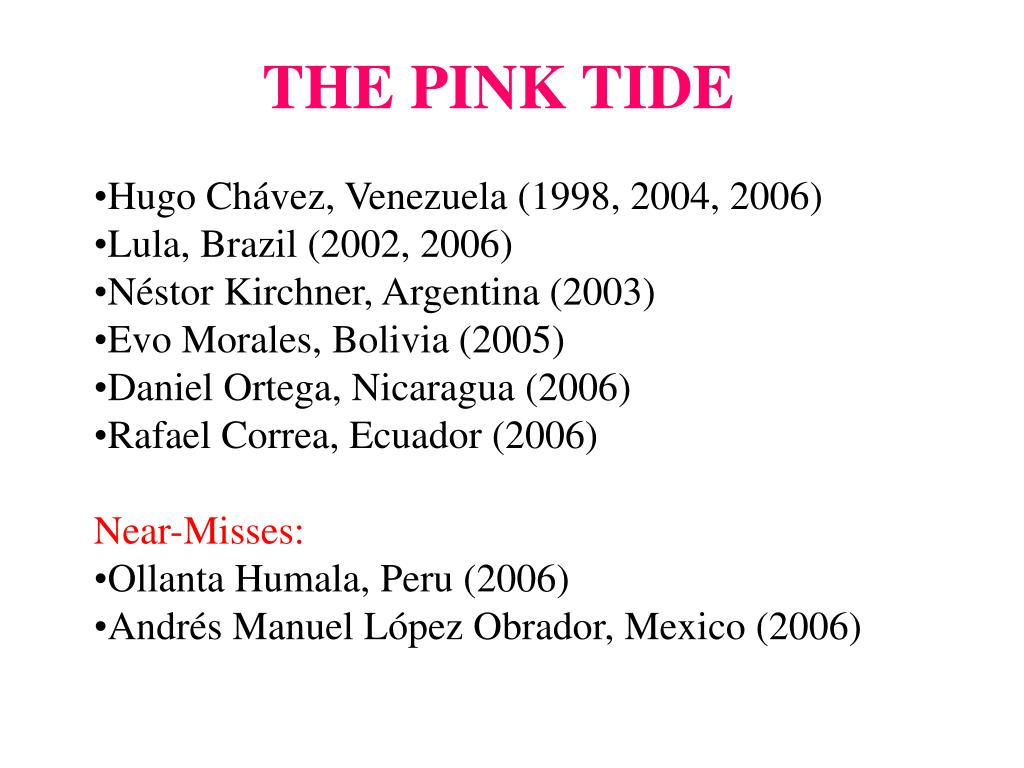 THE PINK TIDE
