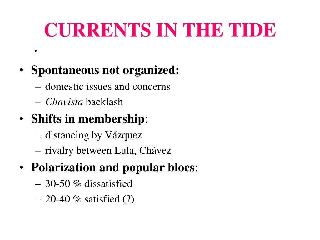 CURRENTS IN THE TIDE