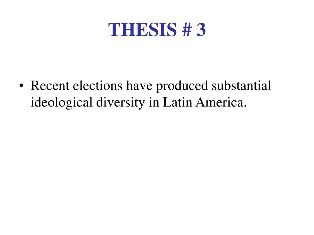 THESIS # 3