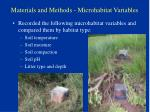 materials and methods microhabitat variables30