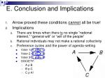 e conclusion and implications