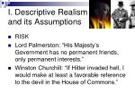 i descriptive realism and its assumptions
