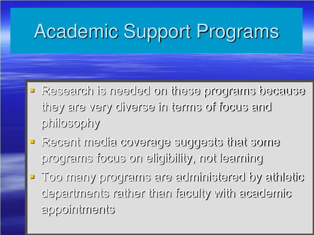Academic Support Programs