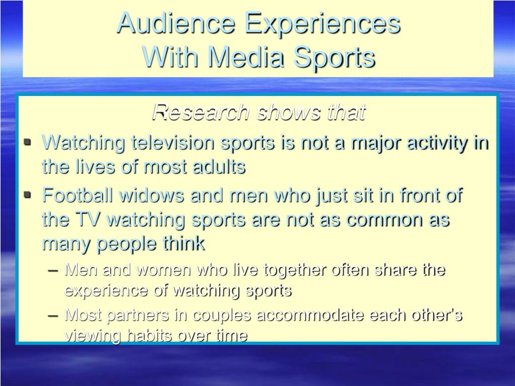Audience Experiences
