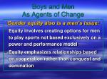 boys and men as agents of change
