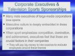 corporate executives television sports sponsorships