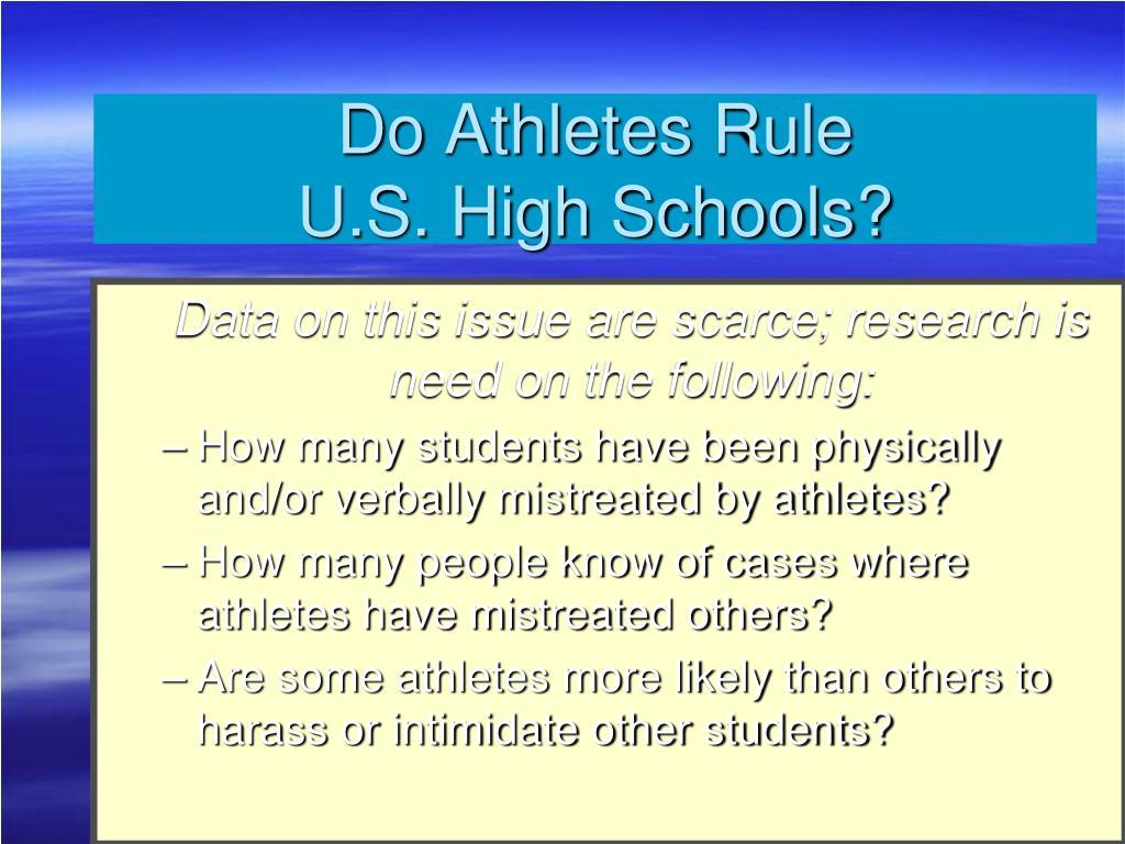 Do Athletes Rule