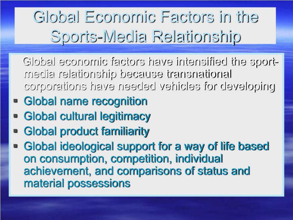 Global Economic Factors in the
