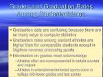 grades and graduation rates among student athletes