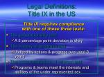 legal definitions title ix in the us