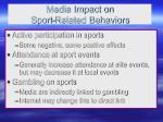media impact on sport related behaviors