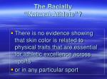 the racially natural athlete