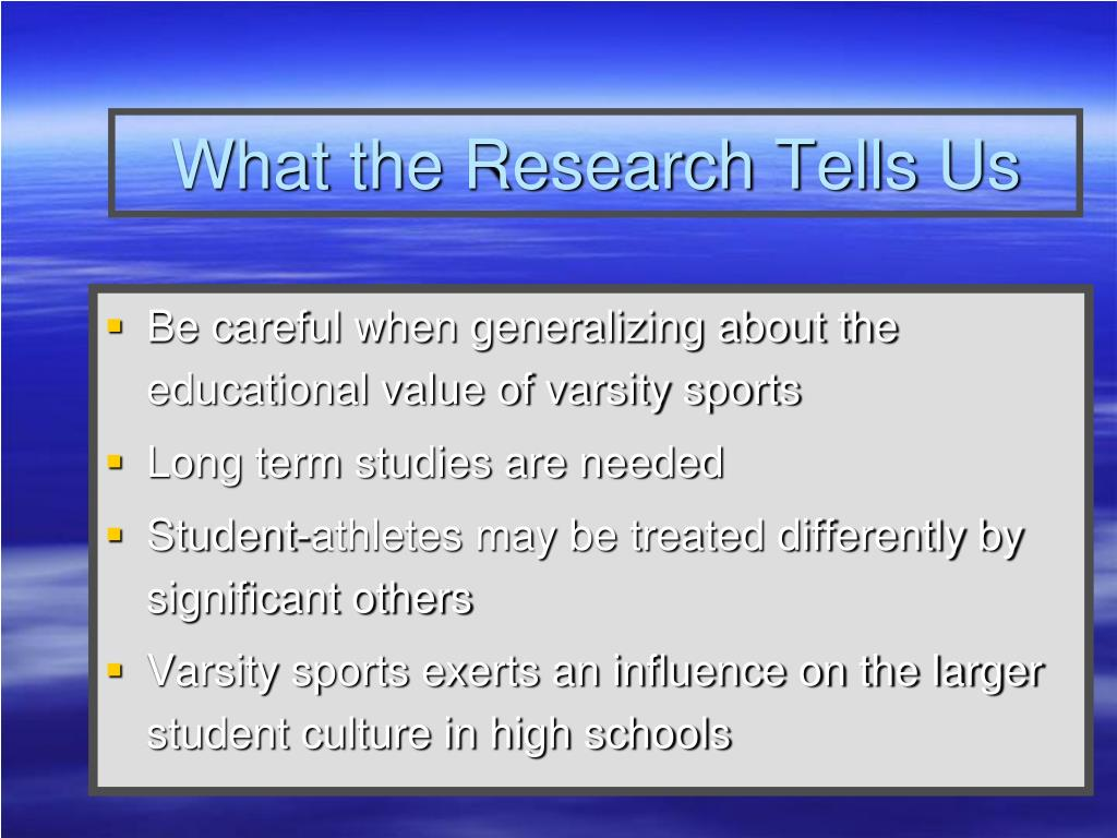 What the Research Tells Us