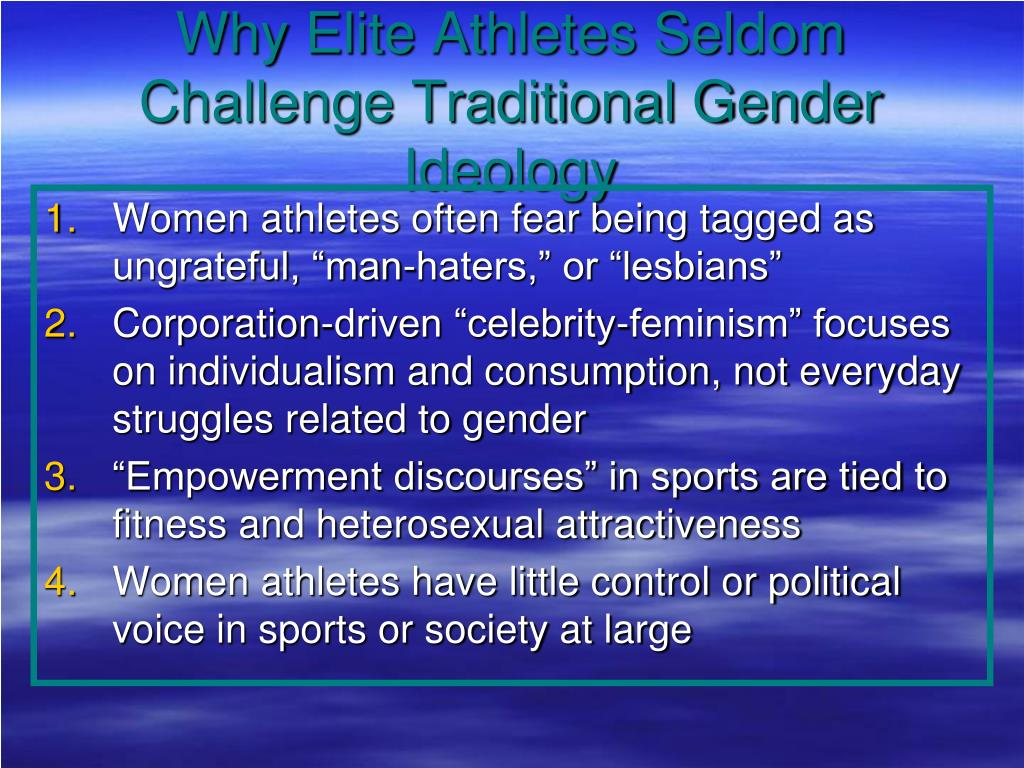 Why Elite Athletes Seldom Challenge Traditional Gender Ideology