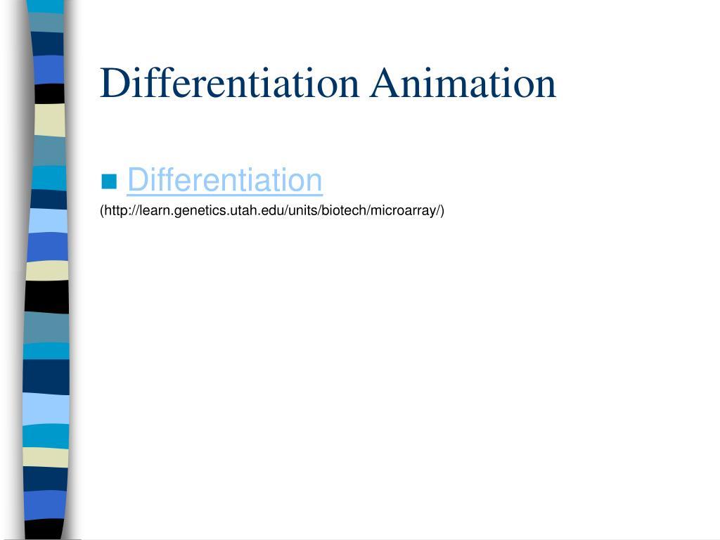 Differentiation Animation