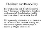 liberalism and democracy17
