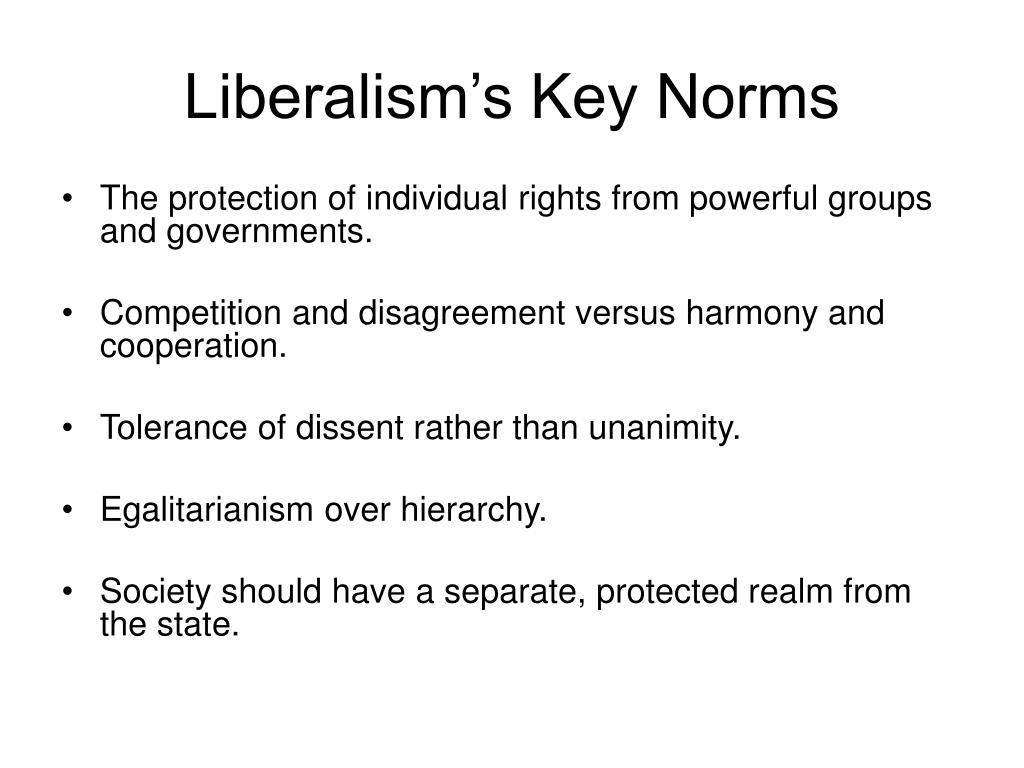 Liberalism's Key Norms