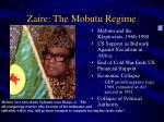 zaire the mobutu regime