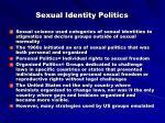 sexual identity politics