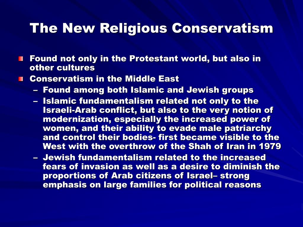 The New Religious Conservatism