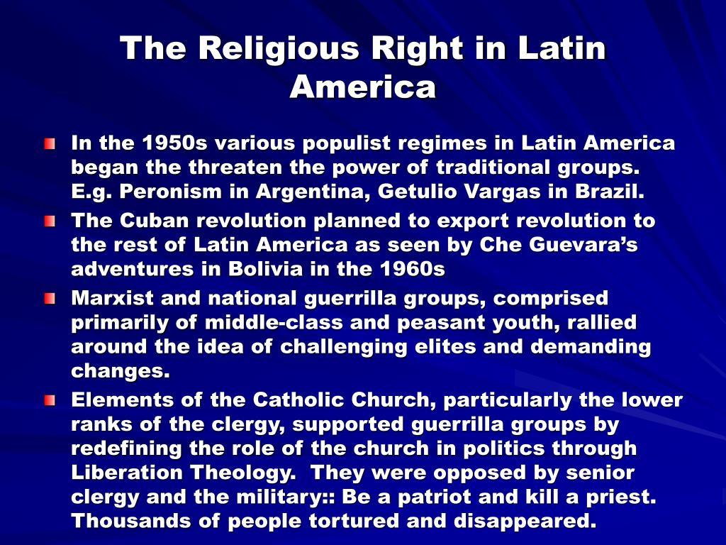 The Religious Right in Latin America