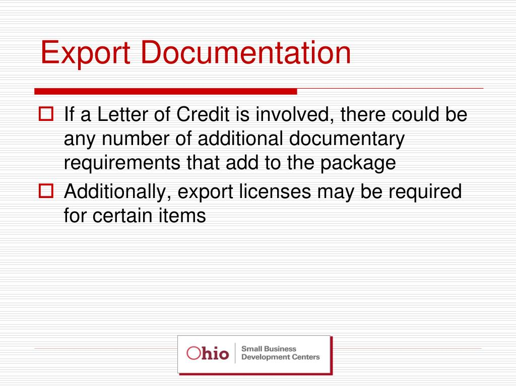 export documentation We have identified 10 common export documents you must have or must know about when exporting your goods and/or services abroad.