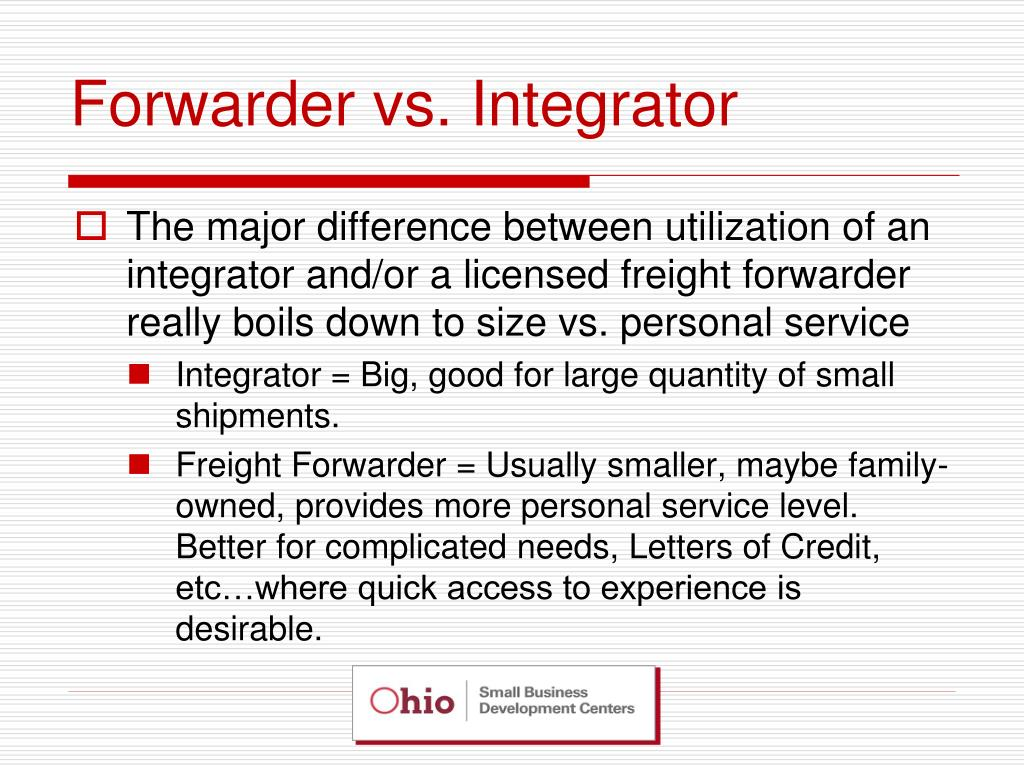 Forwarder vs. Integrator