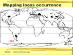 mapping loess occurrence