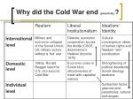 why did the cold war end peacefully