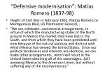 defensive modernisation mat as romero 1837 987