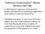 defensive modernisation mat as romero 1837 988